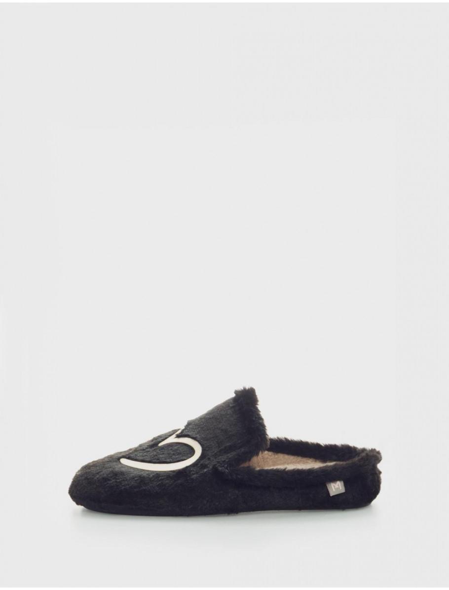 zapatillas de casa ANAIS 99 NEGRO